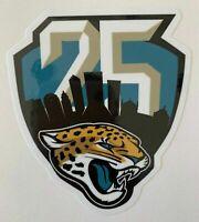JACKSONVILLE JAGUARS 25TH ANNIVERSARY DECAL VINYL STICKER NFL FOOTBALL 1995-2019