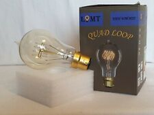 B22 QUAD LOOP FILAMENT Vintage Edison Light Bulb 230v 40w