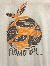 MENS FLOMOTION FLORIDA SURF BEACH ORANGE LOGO LIGHT BLUE SOFT T SHIRT LARGE