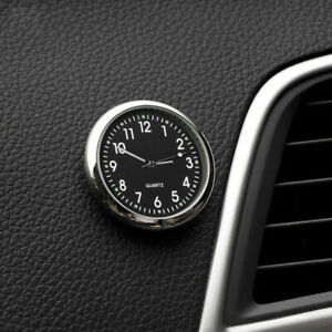 Pocket Mini Quartz Analog  Watch Stick-On Clock For Car Boat Motorcycle Bike