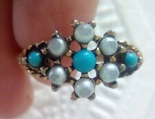 Beautiful Vintage Avon ring. Gold tone blue stones. size adjuster 8 -  8 1/2