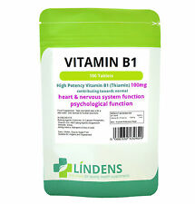 Vitamina B1 tiamina 200 mg 200 mg compresse x 100 Lindens Mosquito Repellente supplemento