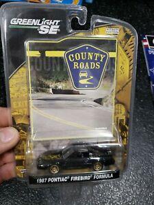County Roads 1987 Pontiac Firebird Formula Diecast Car w/ Card Greenlight SE NEW