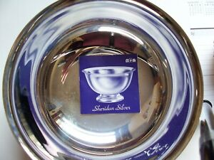 REDUCED: Vintage Sheridan Silver Paul Revere Repro Silverplate Bowl 8-inch dia