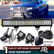 "20"" 126W Led Light Bar Jeep Grand Cherokee/Commander Bull Bar Bumper Grill Guard"