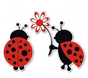 Ladybug Love Cute Car Vinyl Sticker - SELECT SIZE