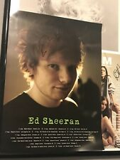 Ed Sheeran AUTOGRAPHED SIGNED Multiply Tour Promo Poster Rare