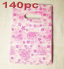 140pc Plastic Carry Shopping Bag Gift Bags 12.5x19.5cm Wholesale
