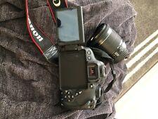 Canon EOS Rebel T5i DSLR Camera - Black (Body, Default lens, No charger)