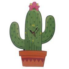 Fun Cactus Design Decorative Wall Clock