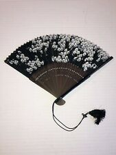 Antique Black Silk Hand Fan