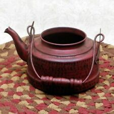 Primitive//Vintage~Reproduction`Granny's Lil` Red Tea Kettle``The Country House`