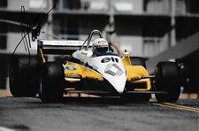 RENE ARNOUX firmato F1 RENAULT RE30B, US GP LONG BEACH 1982