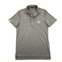 Ralph Lauren RLX Pebble Beach Mens Sm Gray Stripe Short Sleeve Golf Polo Shirt