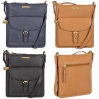 Women's Portobello W11 Bea Saffiano Textured Leather Cross Body Bag RRP £79