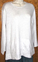 J. Jill Women's Gray Cotton Cashmere Blend Washable Pouch Pocket Sweater Size XS