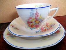 "Art Deco / Vintage China Tea Set trio.John Maddock.""Morning Glory"".British."