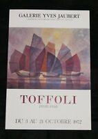 Affiche TOFFOLI La Thailande Galerie Yves JAUBERT 1972