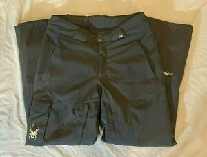 Spyder High-Quality Black Thinsulate Insulated Ski Pants Men's Size Medium-Long