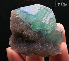 125g WOW!! Rare Ladder-like Green Fluorite & Calcite Symbiosis Specimen/China514