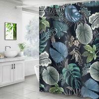 Mode Plante Tropicale Rideau Douche  Avec 12 Crochet Pr Salle de Bain Toilettes