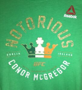 Reebok Notorious Conor McGregor UFC Interim Featherweight Champion T-Shirt - M
