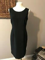 Kasper Separates Classic Black Sheath Suit Coordinate Career Dress 8 NWOT