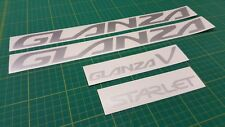 Toyota Starlet Glanza Turbo V 5 replacement Stickers Vinyl Decals Set EP91