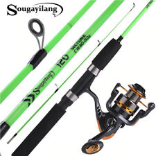 Sougayilang 120cm Spinning Fishing Rod Reel Ultralight ABS Resin Body Travel US