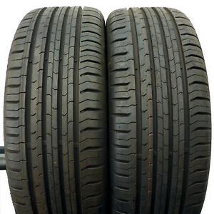 2 CONTINENTAL 195/55 R16 87H 7,7mm Eco Contact 5 Sommerreifen DOT14