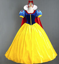 Adult Snow White Princess Cosplay Costume Halloween Fairytale Party Ball Gown M