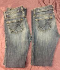 Lot of 2 Rock & Republic Women's Juniors Blue Denim Jeans Size 4