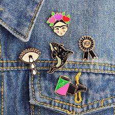 Enamel Pin Badges - Set of 5 - Frida Kahlo Meh Whale Eye - EB0062