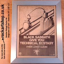 BLACK SABBATH Technical Ecstasy ORIGINAL 1976 Poster/Ad FRAMED Ozzy Osbourne