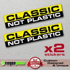 CLASSIC NOT PLASTIC decal vinyl sticker antique car vespa lambretta vw beetle HD