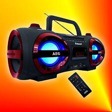 AEG SR 4359 Rot/Schwarz Bluetooth Radio MP3 CD Player USB SD AUX Stereoanlage