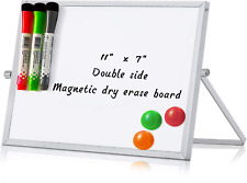 Merlerner 7 X 11 Magnetic Small Dry Erase White Board With Stand Adjustable Mi
