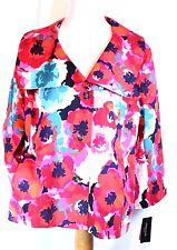 RAFAELLA Studio Size 2X Bright Bold Floral Jacket Fully Lined NWT