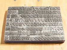 20th Century Bold 72pt letterpress type with quads and spaces