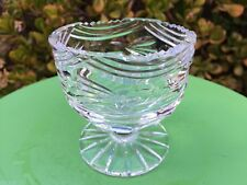 Tyrone Crystal - Made in Ireland - Footed Dessert Dish / Bowl - Signed - Perfect