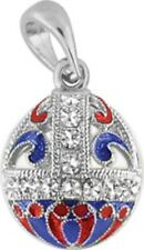 Faberge Egg Pendant / Charm with crystals 2.5 cm #1601-03-09