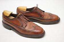 VTG Hanover LB Sheppard Mens Wingtip Shoes 10.5 D/B Brown Scotch Grain Longwing