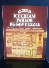 1981 Smucker's Ice Cream Parlor Jigsaw Puzzle Premium with Purchase