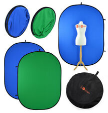 Green / Blue Popup Chroma Key Backdrop - 2m x 1.5m Reversible Screen Background