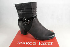 Marco Tozzi Ankle Boot Boots, Black, Leather 25421 New