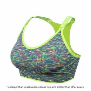 Seamless Wirefree Women Push Up Sports Bra Padded Yoga Top Brassiere Quick Dry