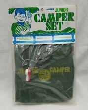 Vintage Junior Camper Set Knapsack Signal Whistle Compass 1971 Miner Industries
