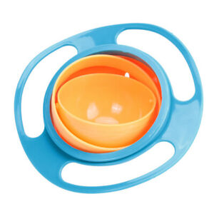 Gyro Bowl 360 Rotierenden Anti-verschütten Schwerkraft Futterschalen Schüssel