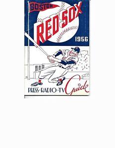 1956 Boston Red Sox Media Guide BEAUTY!!