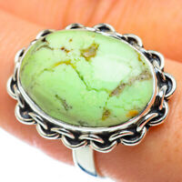 Lemon Chrysoprase 925 Sterling Silver Ring Size 9 Ana Co Jewelry R48901F